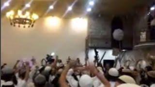 Jewish Radicals Celebrating Wedding by Stabbing Photo of Dawabsheh Baby Credit: Channel 10