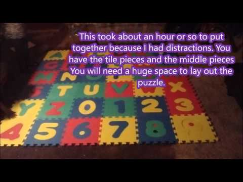 Click and Play Alphabet/Number Puzzle Mat (Tomoson)