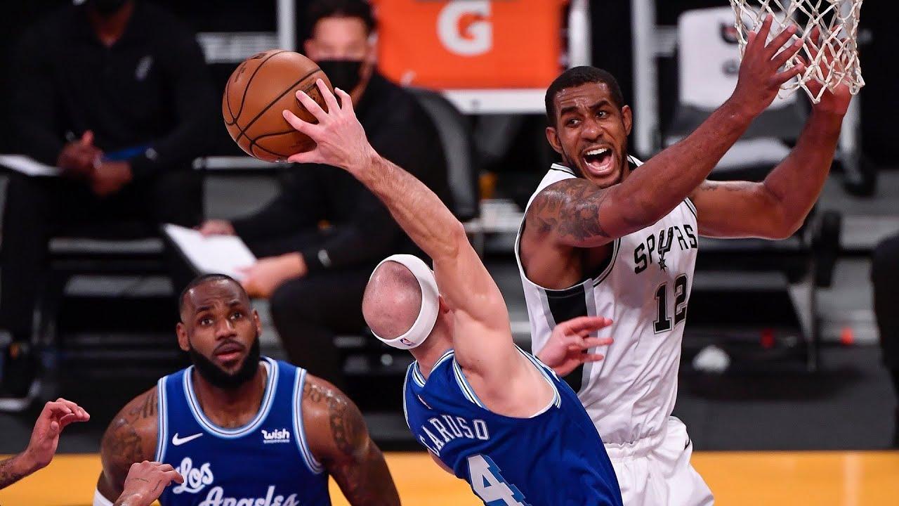 Download Aldridge 28 Points Spurs End Lakers 4 Game Streak! 2020-21 NBA Season