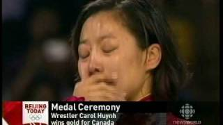 Canada National Anthem Played When Carol Huynh Received Gold