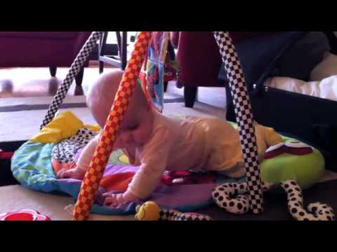 Maggie tries to crawl