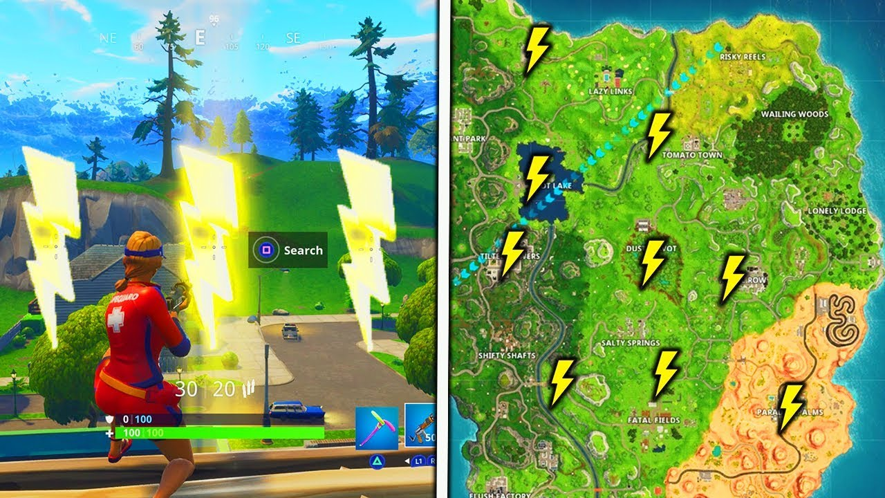 """""""Search Floating Lightning Bolts"""" Locations Fornite Season ..."""