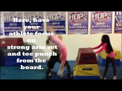 Tumbling and Gymnastics Drills for tuck, layout, fulls, arabians