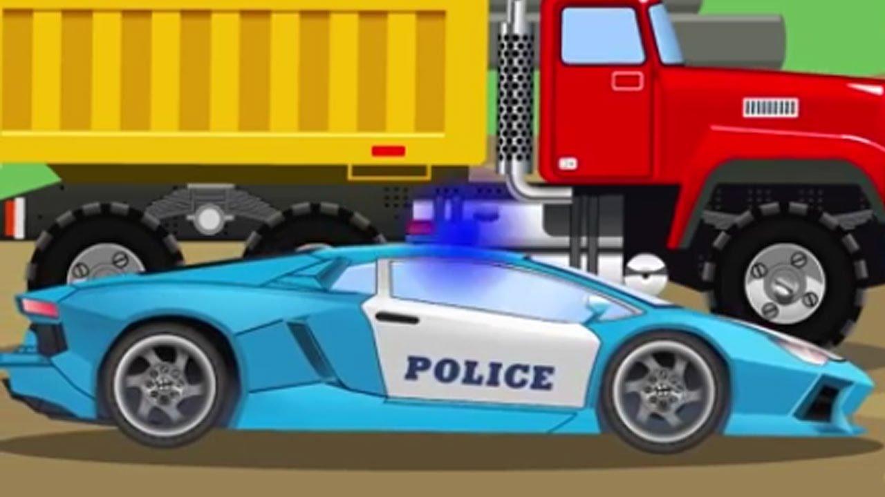 Dessin anim pour enfant voiture de police v hicules pour b b s fran ais youtube - Voiture police dessin anime ...