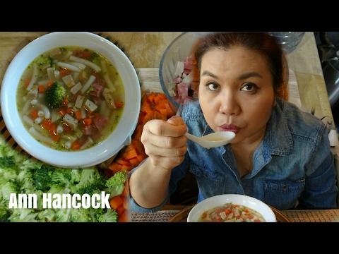 ซุปมักกะโรนี | Macaroni Soup | Cook-Eat@Home | Ann Hancock