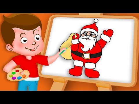 Drawing Santa Claus Paint And Colouring For Kids | Kids Drawing TV