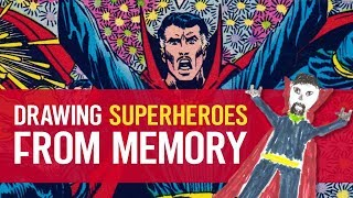 Drawing Superheroes From Memory! - ComicPOP Draws