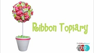 Learn how to make this fun Ribbon Topiary. Don't forget to check ou...