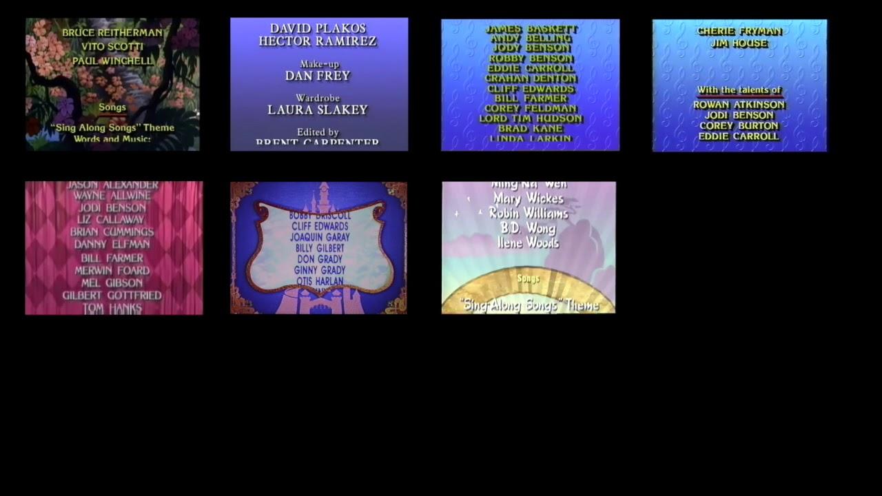 Disney Sing Along Songs Credits Comparison Remix Version