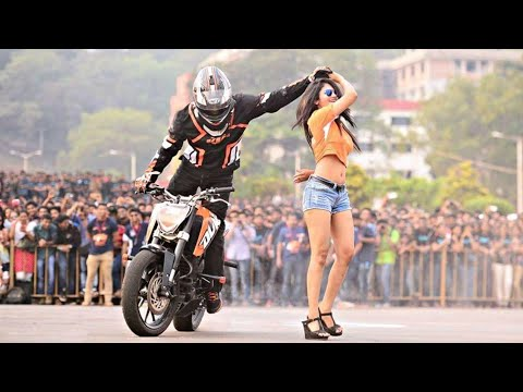 BEST KTM STUNTS HALDWANI 2018 | THE ORANGE DAY |