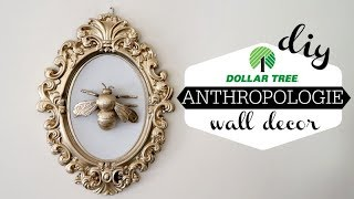 FIVE DOLLAR TREE DIYs   ANTHROPOLOGIE   WALL ART