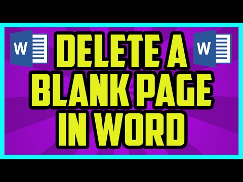How To Delete A Blank Page In Microsoft Word - Microsoft Word 2010 / 2007 Delete Blank Page Tutorial