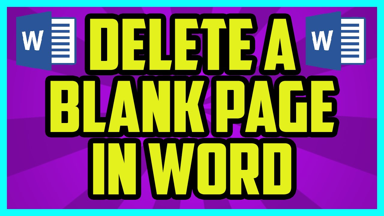 How to delete a blank page in microsoft word microsoft word 2010 how to delete a blank page in microsoft word microsoft word 2010 2007 delete blank page tutorial ccuart Gallery