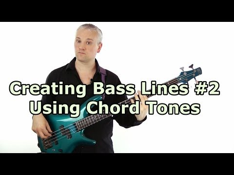How to play a bass line through a chord progression