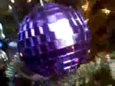Christmas Tree Ornaments with Disco Music