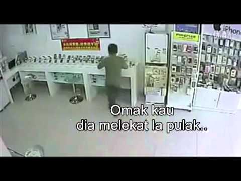 (Lawak) Pencuri Bodoh Kantoi Curi Handphone (Ada Dialog)