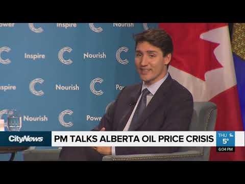 PM Justin Trudeau addresses Alberta oil price crisis