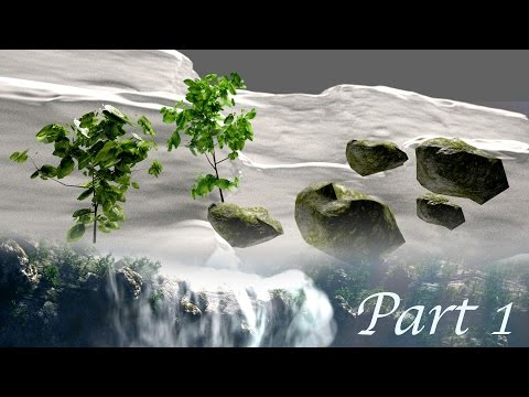 Create Gorgeous Waterfalls - Blender Tutorial - 01 : Terrain & Assets