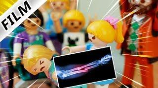 Playmobil Film deutsch HANNAH BRICHT RONJA DEN ARM - Rangelei auf Schulhof |Kinderfilm Familie Vogel