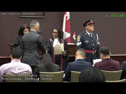 Canadian Citizenship Ceremony Mississauga Ontario Canada 4K
