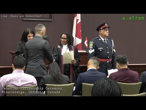 [4K] Canadian Citizenship Ceremony, Mississauga, Ontario, Canada