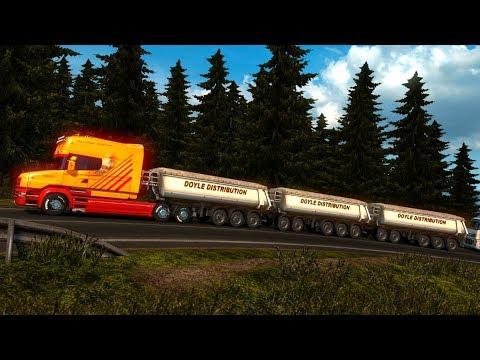 Scania T V8 | Triple Remolque Góndolas De Suiza a Francia