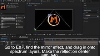 Adobe After Effects CC 2017 Tutorial /// Audio Spectrum [musicforMETA/Trap Nation]