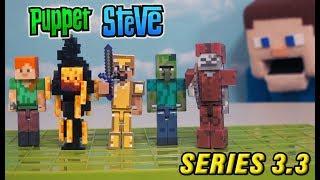 Minecraft Series 3.3 Action Figures Set Jazwares Unboxing Toys - Zombie Villager BLAZE