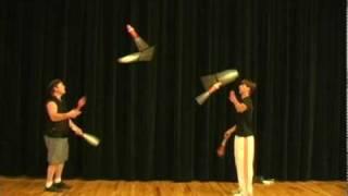 juggling seven club passing
