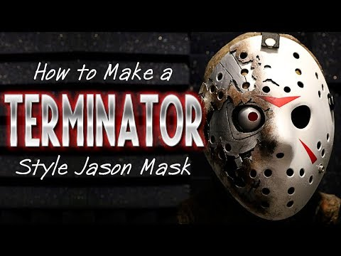 How to Make a Terminator Style Jason Mask - Friday The 13th DIY