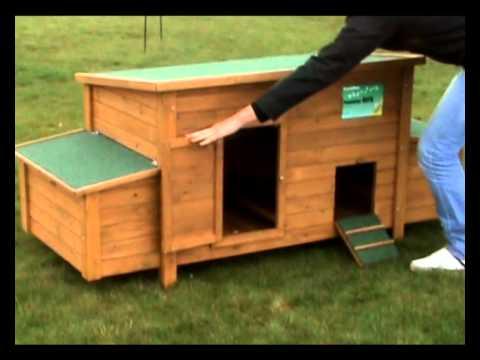 poulailler bois 8 12 poules youtube. Black Bedroom Furniture Sets. Home Design Ideas