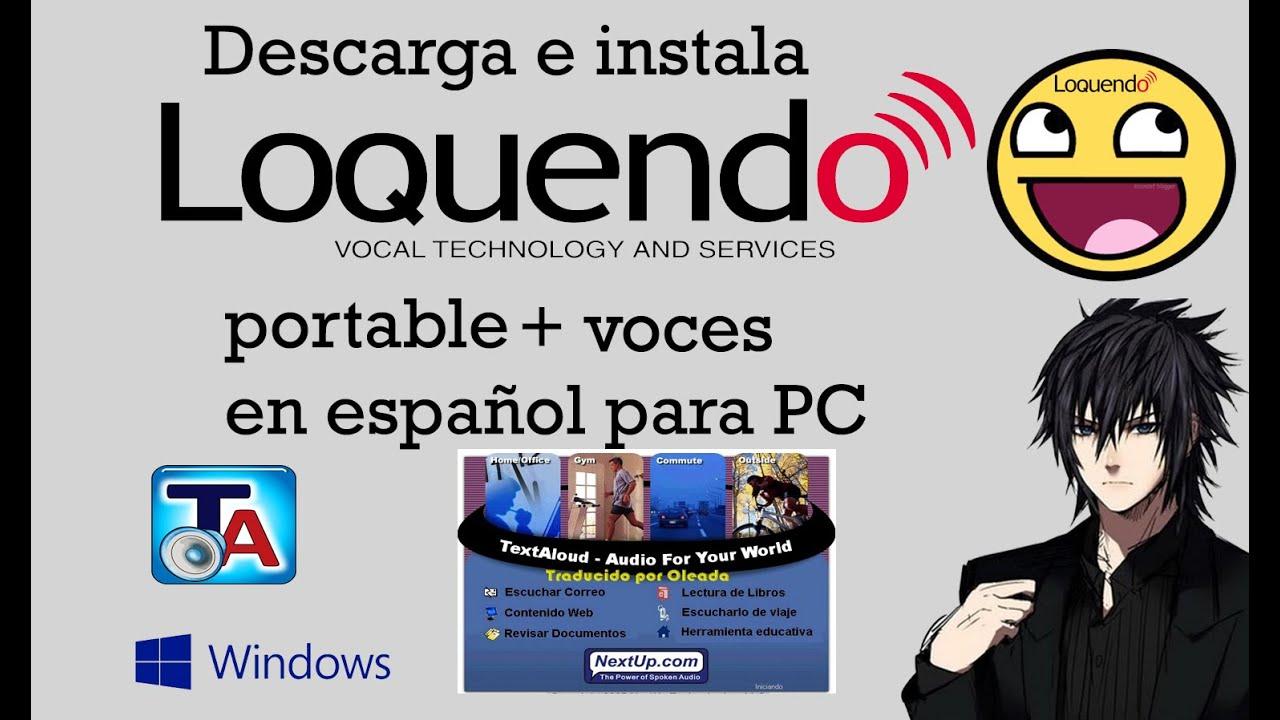 textaloud 2.2 en espaol voces loquendo gratis completo