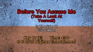 Eric Clapton - Before You Accuse Me (Take A Look At Yourself) (Backing Track)