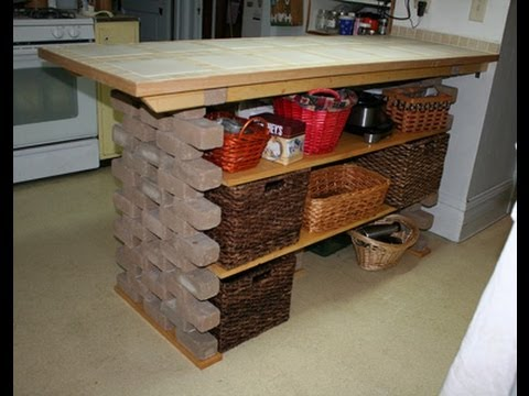 Diy Kitchen Island Youtube