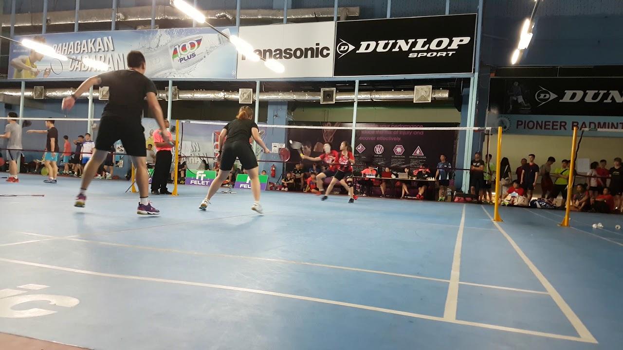 I-Mizu Badminton Tournament 2019 (semi-pro XD) clip #2 ...