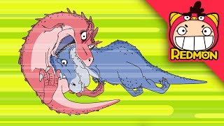 Who is the strongest one of all? | Exploring dinosaurs | dinosaur cartoon | REDMON