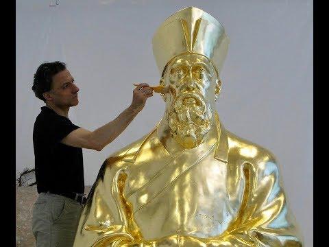 Matteo Ricci sculpture. Living in China, Italian artist tells his journey.