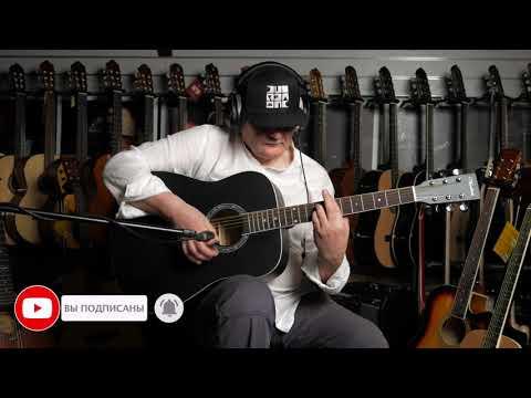 Обзор акустической гитары Veston D 45 SP BKS YouTube