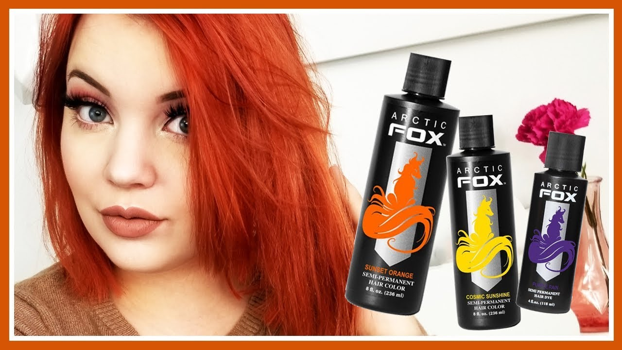 I Dyed My Hair Bright Orange Using Arctic Fox Hair Color Youtube