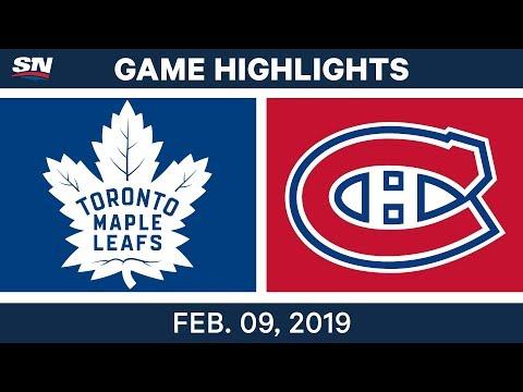 NHL Highlights | Maple Leafs vs. Canadiens - Feb 9, 2019