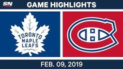 NHL Highlights | Maple Leafs vs. Canadiens - Feb 9, 2019