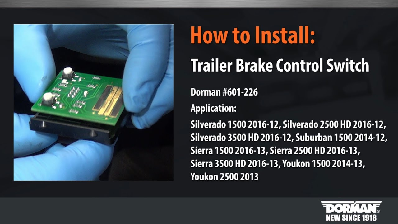 trailer brake control module circuit board installation video by dorman [ 1280 x 720 Pixel ]