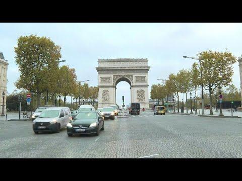 Covid-19: Paris's Champs-Elysées After France Enters Second Lockdown | AFP