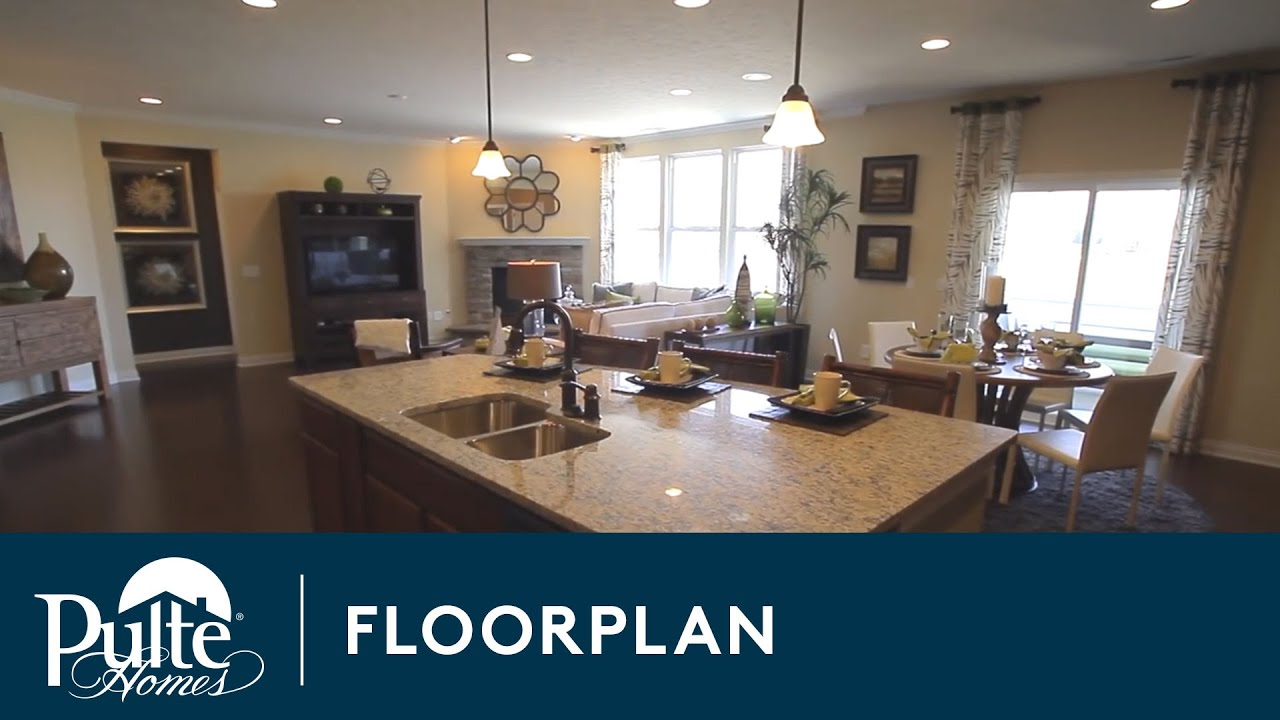 new homes by pulte homes amberwood floorplan youtube