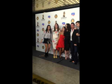 Amy Manson & Once upon A time cast at the Premiere of Estranged