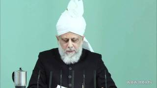 Arabic Friday Sermon 3rd February 2012 - Islam Ahmadiyya