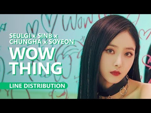 SEULGI X SINB X CHUNGHA X SOYEON - WOW THING | Line Distribution