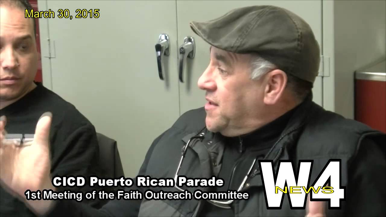 W4 News – CICD Puerto Rican Parade Faith Outreach Committee – 3/30/2015