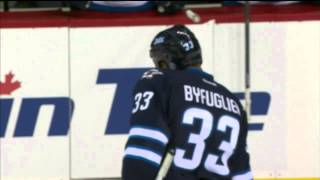 Dustin Byfuglien hitting people and scoring goals