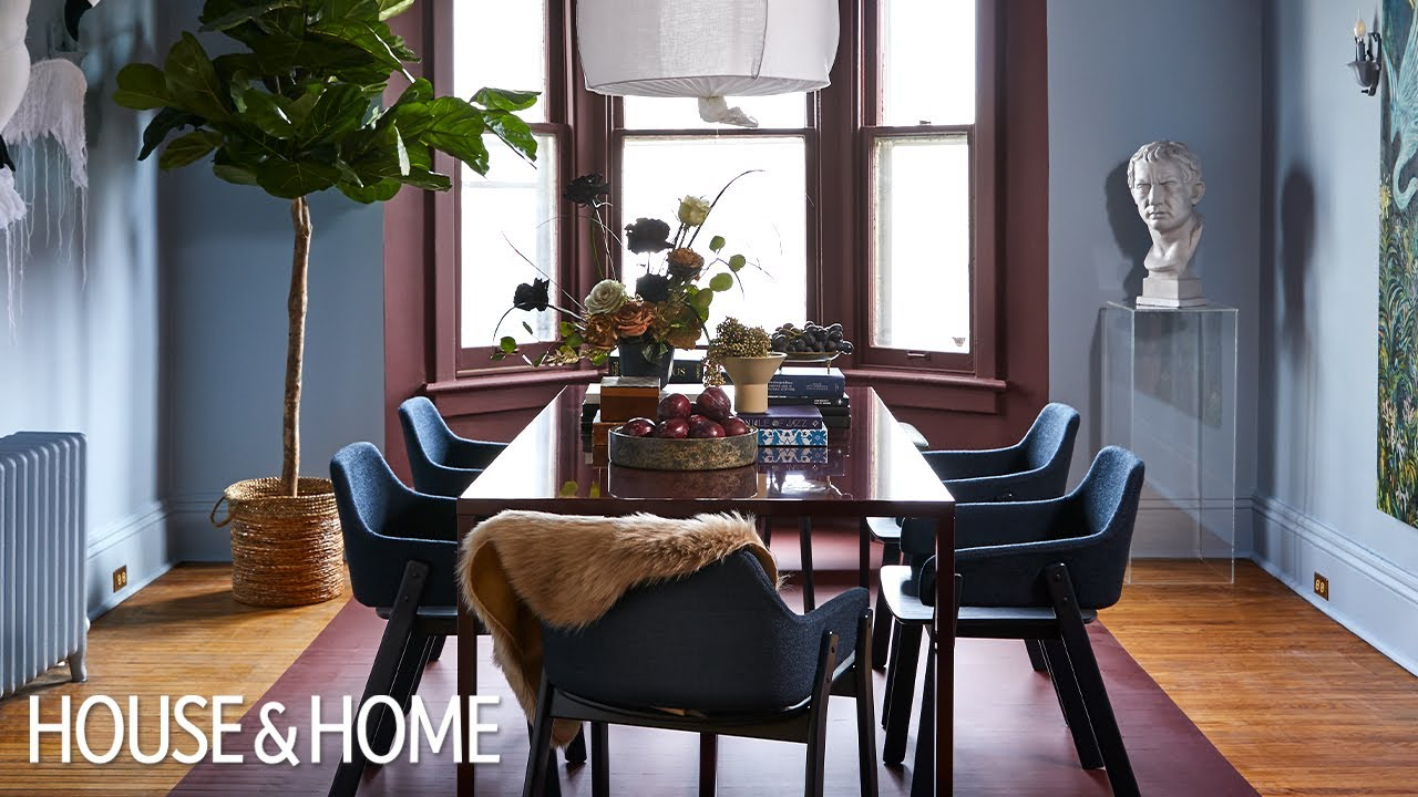 Bold Paint Stripe DIY : Victorian Dining Room Makeover